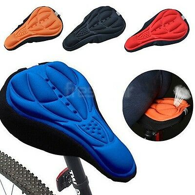 Extra Comfort 3D Silicon Padded Bike Cycle Black Saddle Cover