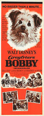 GREYFRIARS BOBBY/SKYE TERRIER original 1961 DISNEY 14x36 insert movie poster