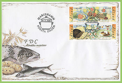 Aland 2002 Traditional Food Dishes set First Day Cover