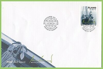 Aland 2004 ' My Aland' Longboat First Day Cover