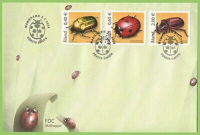 Aland 2006 Beetles set First Day Cover