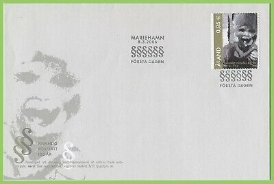 Aland 2006 Womens Suffrage First Day Cover