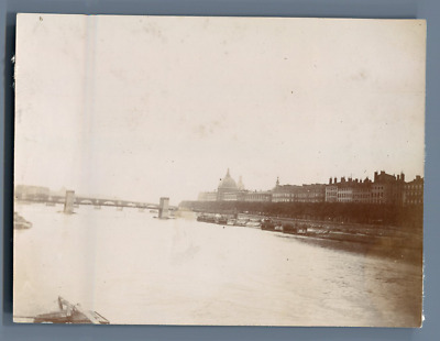 France, Lyon, Panorama  Vintage citrate print.   Tirage citrate  8x11  Cir