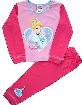 DP88 Girls Disney Princess Cinderella Snuggle Fit Pyjamas Size 18 mths to 5 Yrs