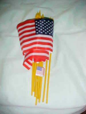 """12 SMALL 4""""X6""""inch.UNITED STATES FLAGS FLAGS ON POLES"""
