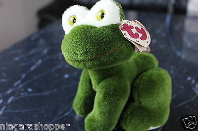 "1993*Attic Treasures Collection*ty*Green Frog*PRINCE*7"" Jointed Plush*Retired*"