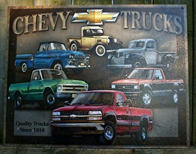 """Chevy Truck Tribute Metal Tin Sign 16""""h X 12.5""""w , 16x13 New"""