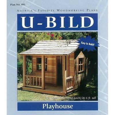 Woodworking Project Paper Plan for Playhouse No. 881 New