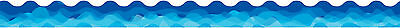Waves of Blue Display Border Classroom Display Board Trimmer Scalloped Edge