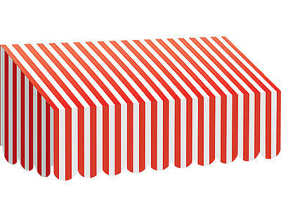 Red & White Stripes Awning - Classroom Display - Make a 3D Display