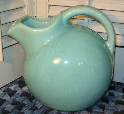 Vintage SHAWNEE AQUA SNOWFLAKE BALL JUG Turquoise Ball Pitcher NO CRACKS or chip