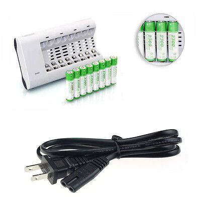 Fast Rechargeable Battery Automatic Power Charger For 8 AA/AAA Ni-MH Ni-Cd