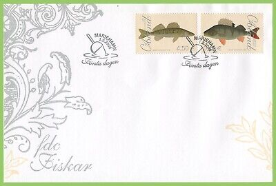 Aland 2008 Fish Paintings First Day Cover