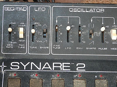 Extremely Rare Vintage Retro Analog Synare 2 Drum Synth Sequencer