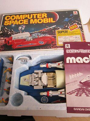 Space Toy Roboter Robot Computer Space Mobil Car mach XR blau 21 cm BANDAI OVP
