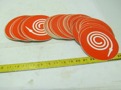 "Fire Hose Safety Orange Decal Label Sticker 6"" Dia App OSHA Lot of 95 pc"