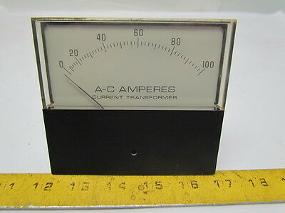 EIL Instruments/YEW 0-100 amp A-C Large Face amp meter