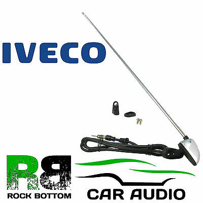 IVECO Universal Stainless Steel Pillar Mount AM/FM Car Radio Aerial Antenna