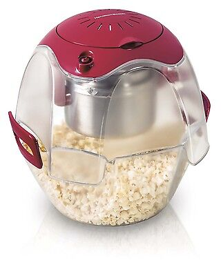 Hamilton Beach Party Popper 3-Step Easy-to-Use Popcorn Maker, Red | 73310