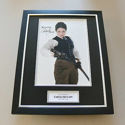 Catrin Stewart Signed Framed 16x12 Photo Autograph Display Dr Who Memorabilia