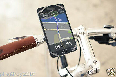 J&L Universal Smart Cell Phone mount/Holder/Silicon fit bicycle&MotorCycle,Bike