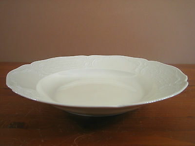 "Sanssouci Rosenthal Ivory Pasta Serving Bowl 13"" No Trim Embossed Beaded Excell"