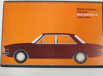 1975 Audi 100LS Dealer Showroom Album Brochure b3338