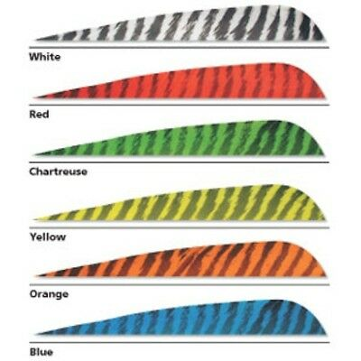 """Gateway Archery Feathers Parabolic 5"""" RW Barred- 25pk Color Choices"""