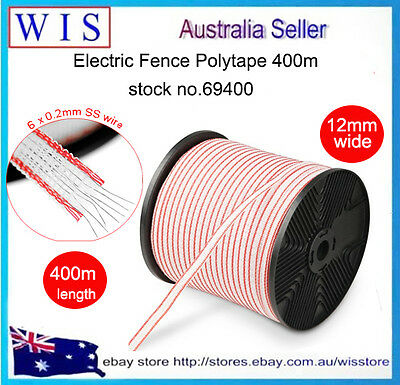 400m Electric Fence Polytape,Poly Tape Electric Fence Wire Roll,12mm Wide-69400
