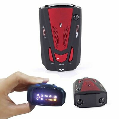 360 Degree Car Speed Limited Detection Voice Alert Anti Radar Detector Red New