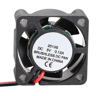 Micro 2510S 5V Cooler Brushless DC CPU Fan 25*10mm Mini Cooling Radiator Black
