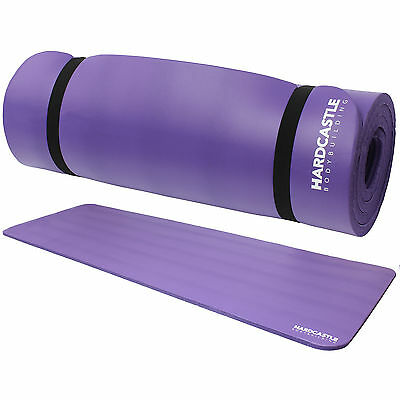 Hardcastle Purple 15Mm Thick Yoga/fitness/pilates Exercise/floor Mat Workout Uk