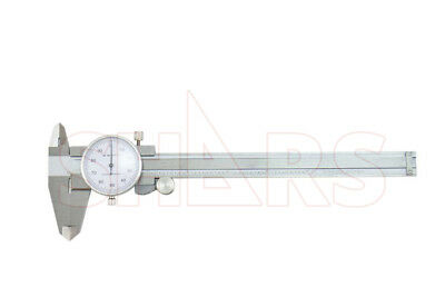 "SHARS 0- 6 x 0.1"" 4 WAY DIAL CALIPER STAINLESS STEEL  SHOCK PROOF NEW"