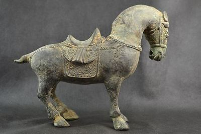 Archaic Collectibles Decorated Handwork Old Copper Carving Horse Statue