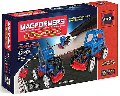 Magformers 63211 42 Pcs R/C Cruisers Magnetic Construction Set Magnets NEW 2015