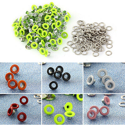 100pcs Copper Eyelets with Washers for Leather Craft 4MM