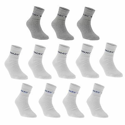 Donnay Mens Kids Quarter Socks 12 Pack Casual Everyday Wear