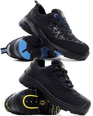 Mens Terra Steel Toe Cap Safety Boots Leather Ankle Hiking Trainers Shoes Size