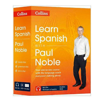 Learn Spanish with Paul Noble Collins 12 CDs, Booklet, DVD Collection
