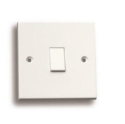 50 X 1 Gang 1 Way Single Light Switch White Plastic 10 Amp