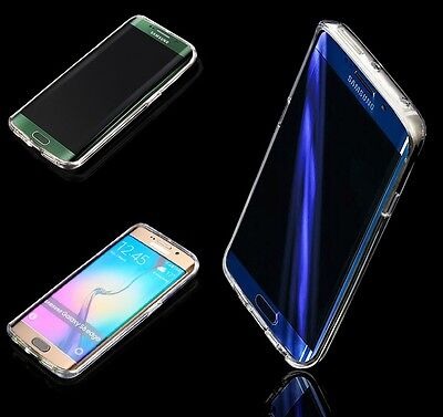 Housse Etui Coque Silicone Gel Galaxy S6 Edge + 1 Film  Stylet