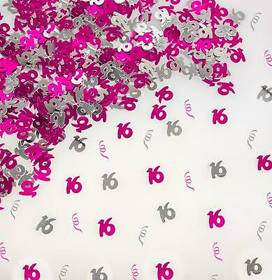 14g 16th Pink Happy Birthday Party Glitz Table Confetti Sprinkles Decorations