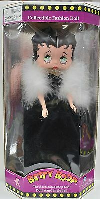 """Betty Boop 12"""" Doll by Precious Kids - Black Dress with White Stole"""