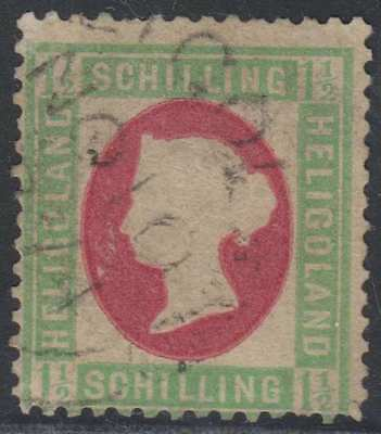 BC HELIGOLAND 1873 QV Sc 12 TOP VALUE USED SCV$325.00