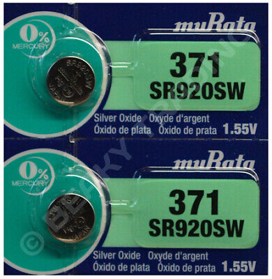 VALUE PACK! 2 x SONY 371 SR920SW Silver Oxide Watch Battery 1.55v