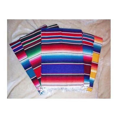 Large Authentic Mexican Serape Saltillo Blankets 7'/5' by Roger Enterprises New