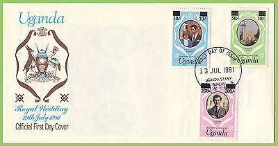 Uganda 1981 (July) Royal Wedding Surcharge First Day Cover