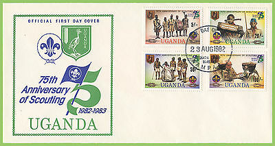Uganda 1982 Scouts 75th Anniversary set First Day Cover