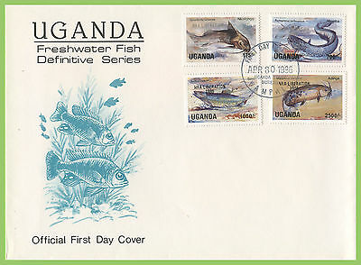 Uganda 1986 Fish Definitives (four values) First Day Cover