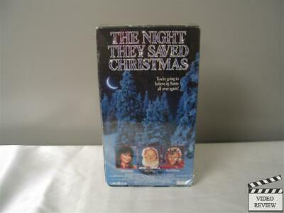 The Night They Saved Christmas (VHS) Jaclyn Smith Art Carney Paul Williams